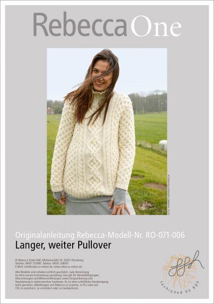 Strickanleitung - Langer, weiter Pullover