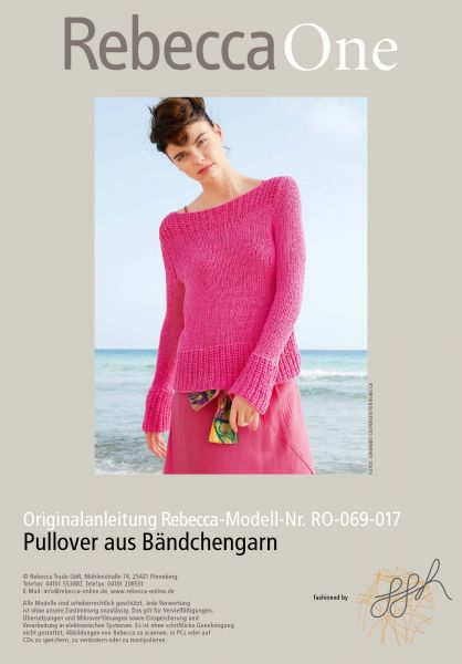 Pullover aus Bändchengarn